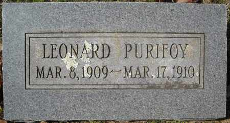 PURIFOY, LEONARD - Faulkner County, Arkansas | LEONARD PURIFOY - Arkansas Gravestone Photos