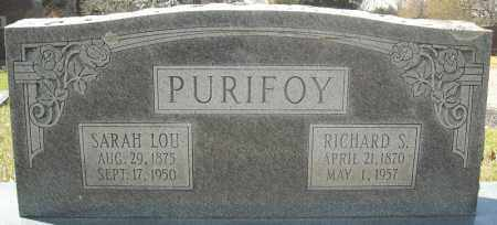"PURIFOY, RICHARD SAMUEL "" DICK"" - Faulkner County, Arkansas 