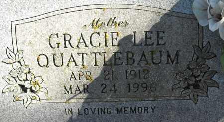 QUATTLEBAUM, GRACIE L. (CLOSE UP) - Faulkner County, Arkansas | GRACIE L. (CLOSE UP) QUATTLEBAUM - Arkansas Gravestone Photos
