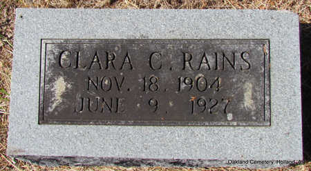 RAINS, CLARA - Faulkner County, Arkansas | CLARA RAINS - Arkansas Gravestone Photos