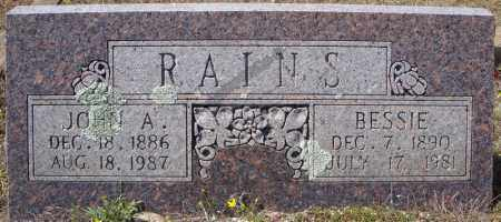 "RAINS, BETTIE DELANIE ""BESSIE"" - Faulkner County, Arkansas 