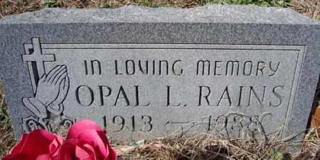 RAINS, OPAL LUCILLE - Faulkner County, Arkansas | OPAL LUCILLE RAINS - Arkansas Gravestone Photos