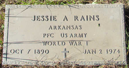 RAINS (VETERAN WWI), JESSIE A - Faulkner County, Arkansas | JESSIE A RAINS (VETERAN WWI) - Arkansas Gravestone Photos