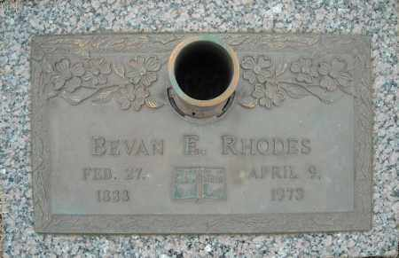 RHODES, BEVAN E. - Faulkner County, Arkansas | BEVAN E. RHODES - Arkansas Gravestone Photos