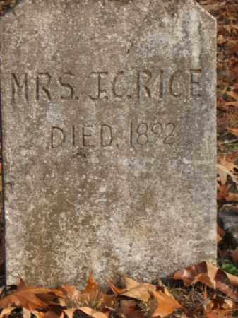RICE, MRS. J.C. (JOHN CALVIN) - Faulkner County, Arkansas | MRS. J.C. (JOHN CALVIN) RICE - Arkansas Gravestone Photos