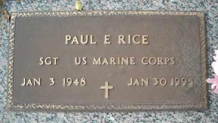 RICE (VETERAN), PAUL E - Faulkner County, Arkansas | PAUL E RICE (VETERAN) - Arkansas Gravestone Photos
