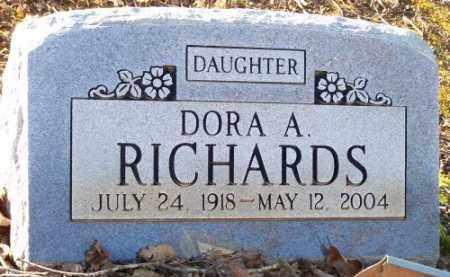 RICHARDS, DORA A. - Faulkner County, Arkansas | DORA A. RICHARDS - Arkansas Gravestone Photos