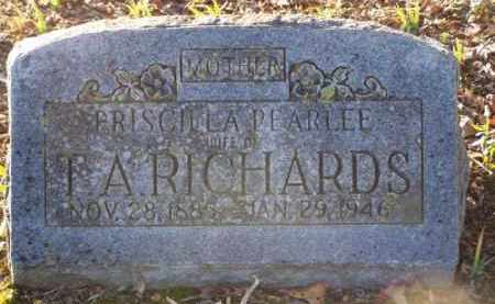 RICHARDS, PRISCILLA - Faulkner County, Arkansas | PRISCILLA RICHARDS - Arkansas Gravestone Photos