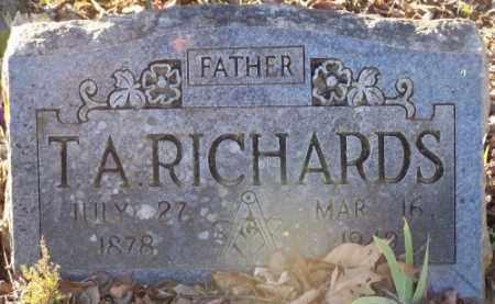 RICHARDS, T.A. - Faulkner County, Arkansas | T.A. RICHARDS - Arkansas Gravestone Photos