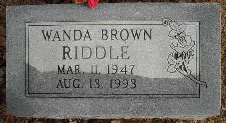 RIDDLE, WANDA - Faulkner County, Arkansas | WANDA RIDDLE - Arkansas Gravestone Photos