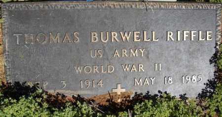 RIFFLE (VETERAN WWII), THOMAS BURWELL - Faulkner County, Arkansas | THOMAS BURWELL RIFFLE (VETERAN WWII) - Arkansas Gravestone Photos