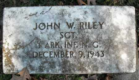 RILEY  (VETERAN), JOHN W. - Faulkner County, Arkansas | JOHN W. RILEY  (VETERAN) - Arkansas Gravestone Photos