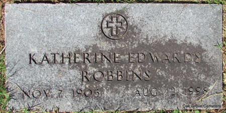 EDWARDS ROBBINS, KATHERINE - Faulkner County, Arkansas | KATHERINE EDWARDS ROBBINS - Arkansas Gravestone Photos