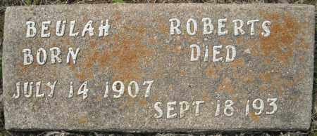 ROBERTS, BEULAH - Faulkner County, Arkansas | BEULAH ROBERTS - Arkansas Gravestone Photos