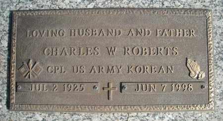 ROBERTS (VETERAN KOR), CHARLES W - Faulkner County, Arkansas | CHARLES W ROBERTS (VETERAN KOR) - Arkansas Gravestone Photos
