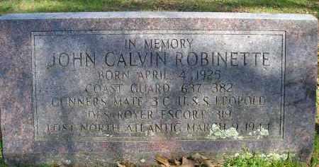 ROBINETTE  (VETERAN  WWII), JOHN CALVIN - Faulkner County, Arkansas | JOHN CALVIN ROBINETTE  (VETERAN  WWII) - Arkansas Gravestone Photos