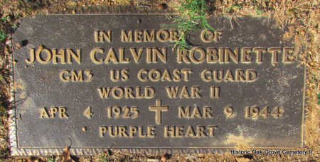 ROBINETTE (VETERAN WWII KIA ), JOHN CALVIN (CENOTAPH) - Faulkner County, Arkansas | JOHN CALVIN (CENOTAPH) ROBINETTE (VETERAN WWII KIA ) - Arkansas Gravestone Photos