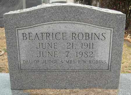 ROBINS, BEATRICE - Faulkner County, Arkansas | BEATRICE ROBINS - Arkansas Gravestone Photos