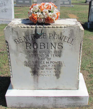 POWELL ROBINS, BEATRICE - Faulkner County, Arkansas | BEATRICE POWELL ROBINS - Arkansas Gravestone Photos