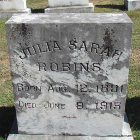 ROBINS, JULIA SARAH - Faulkner County, Arkansas | JULIA SARAH ROBINS - Arkansas Gravestone Photos