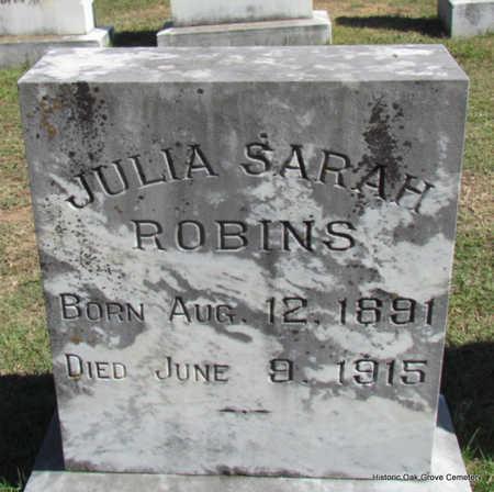 ROBINS, JULIA SARAH - Faulkner County, Arkansas   JULIA SARAH ROBINS - Arkansas Gravestone Photos