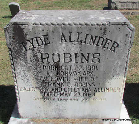 ROBINS, LYDE - Faulkner County, Arkansas | LYDE ROBINS - Arkansas Gravestone Photos