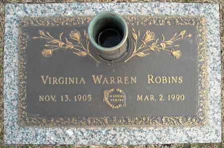 ROBINS, VIRGINIA - Faulkner County, Arkansas | VIRGINIA ROBINS - Arkansas Gravestone Photos
