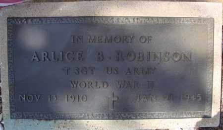 ROBINSON (VETERAN WWII), ARLICE B - Faulkner County, Arkansas | ARLICE B ROBINSON (VETERAN WWII) - Arkansas Gravestone Photos