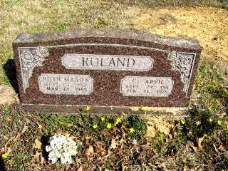 ROLAND, C. ARVIL - Faulkner County, Arkansas | C. ARVIL ROLAND - Arkansas Gravestone Photos
