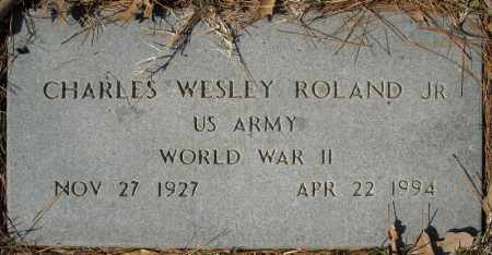 ROLAND, JR (VETERAN WWII), CHARLES WESLEY - Faulkner County, Arkansas | CHARLES WESLEY ROLAND, JR (VETERAN WWII) - Arkansas Gravestone Photos