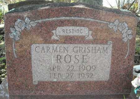 GRISHAM ROSE, CARMEN - Faulkner County, Arkansas | CARMEN GRISHAM ROSE - Arkansas Gravestone Photos