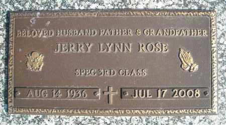 ROSE (VETERAN), JERRY LYNN - Faulkner County, Arkansas | JERRY LYNN ROSE (VETERAN) - Arkansas Gravestone Photos