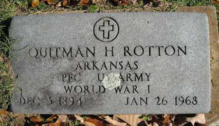 ROTTON (VETERAN WWI), QUITMAN H - Faulkner County, Arkansas | QUITMAN H ROTTON (VETERAN WWI) - Arkansas Gravestone Photos