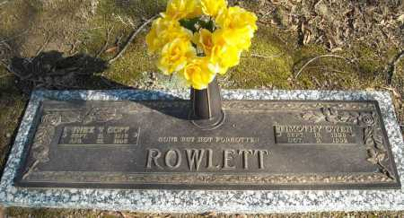 ROWLETT, TIMOTHY OWEN - Faulkner County, Arkansas | TIMOTHY OWEN ROWLETT - Arkansas Gravestone Photos