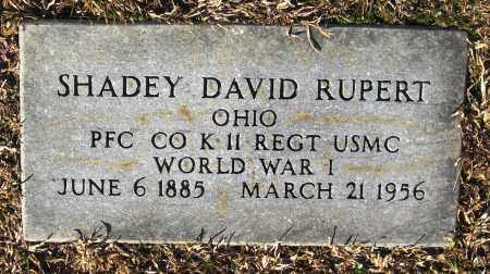 RUPERT  (VETERAN WWI), SHADEY DAVID - Faulkner County, Arkansas | SHADEY DAVID RUPERT  (VETERAN WWI) - Arkansas Gravestone Photos