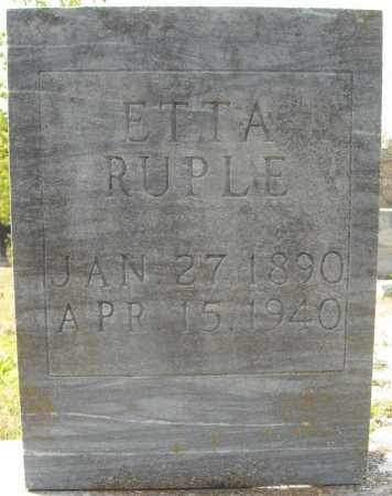 RUPLE, ETTA - Faulkner County, Arkansas | ETTA RUPLE - Arkansas Gravestone Photos