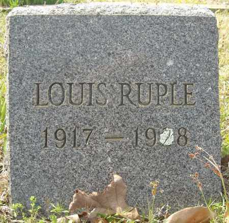RUPLE, LOUIS - Faulkner County, Arkansas | LOUIS RUPLE - Arkansas Gravestone Photos