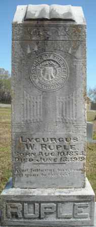 RUPLE, LYCURGUS W. - Faulkner County, Arkansas | LYCURGUS W. RUPLE - Arkansas Gravestone Photos
