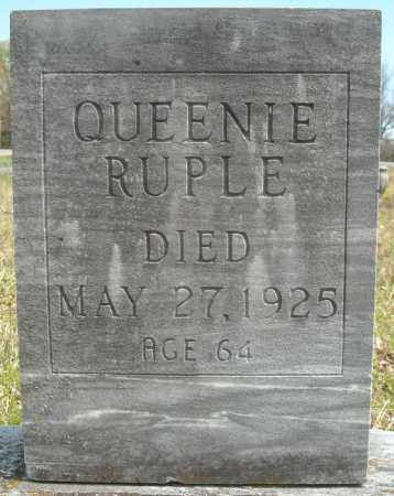 RUPLE, QUEENIE - Faulkner County, Arkansas | QUEENIE RUPLE - Arkansas Gravestone Photos
