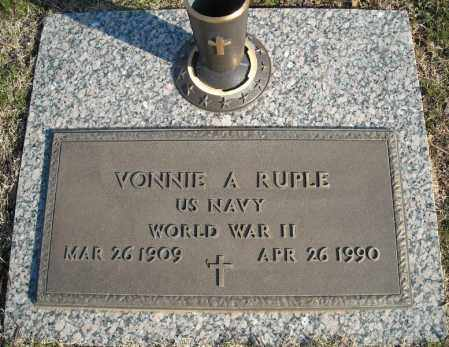 RUPLE (VETERAN WWII), VONNIE A - Faulkner County, Arkansas | VONNIE A RUPLE (VETERAN WWII) - Arkansas Gravestone Photos