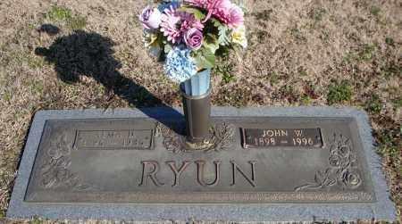 RYUN, JOHN W. - Faulkner County, Arkansas | JOHN W. RYUN - Arkansas Gravestone Photos