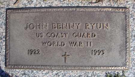 RYUN (VETERAN WWII), JOHN BENNY - Faulkner County, Arkansas | JOHN BENNY RYUN (VETERAN WWII) - Arkansas Gravestone Photos