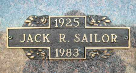 SAILOR, JACK R. - Faulkner County, Arkansas | JACK R. SAILOR - Arkansas Gravestone Photos