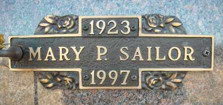 SAILOR, MARY P. - Faulkner County, Arkansas | MARY P. SAILOR - Arkansas Gravestone Photos