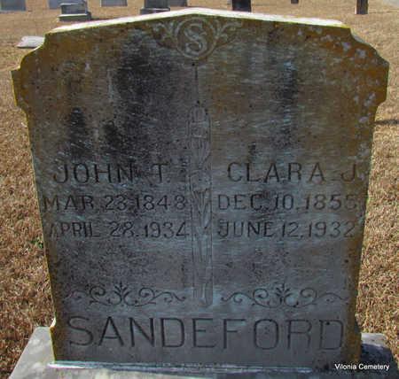 SANDEFORD, JOHN T. - Faulkner County, Arkansas | JOHN T. SANDEFORD - Arkansas Gravestone Photos