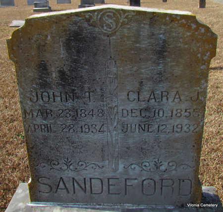 SANDEFORD, JOHN T. - Faulkner County, Arkansas | JOHN T. SANDEFORD - Arkansas Gravestone Photos