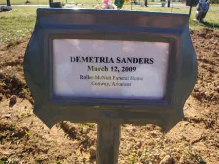 SANDERS, DEMETRIA - Faulkner County, Arkansas | DEMETRIA SANDERS - Arkansas Gravestone Photos