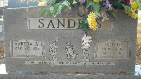 SANDERS, JOE D. - Faulkner County, Arkansas | JOE D. SANDERS - Arkansas Gravestone Photos