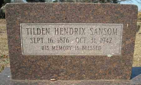 SANSOM, TILDEN HENDRIX - Faulkner County, Arkansas   TILDEN HENDRIX SANSOM - Arkansas Gravestone Photos