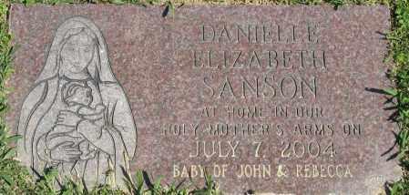 SANSON, DANIELLE ELIZABETH - Faulkner County, Arkansas | DANIELLE ELIZABETH SANSON - Arkansas Gravestone Photos